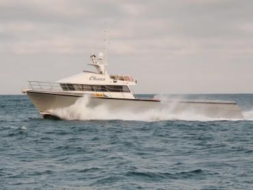 Ohana lobster fishing boat - port side profile